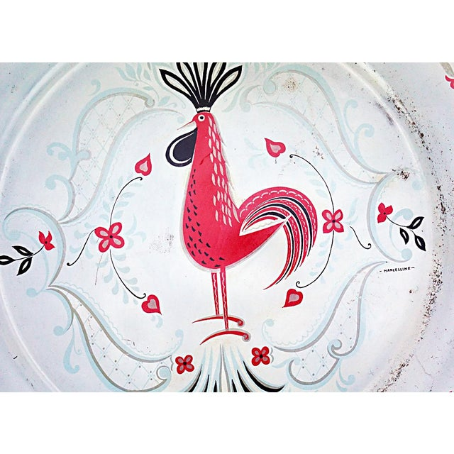 Vintage Metal Rooster Tray by Marcelline Stoyke - Image 3 of 5