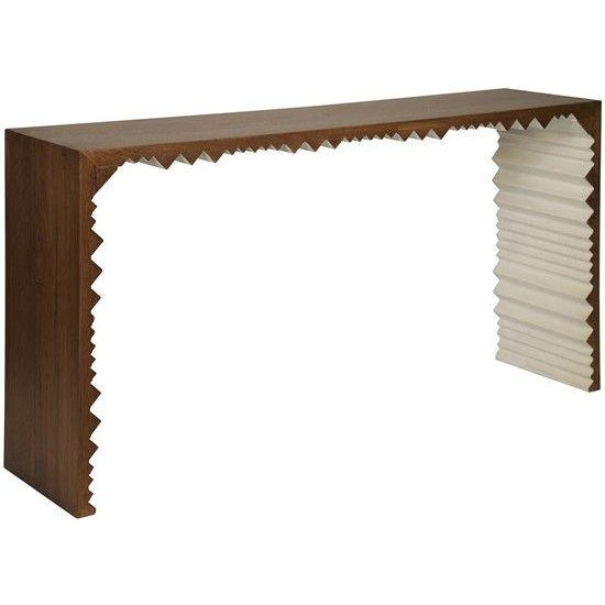 The Nelson Console by Noir is incredibly versatile enough to hold its own as a statement piece or blend with a vignette....