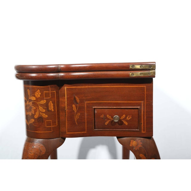 Fine Dutch Marquetry Game Table For Sale - Image 10 of 11