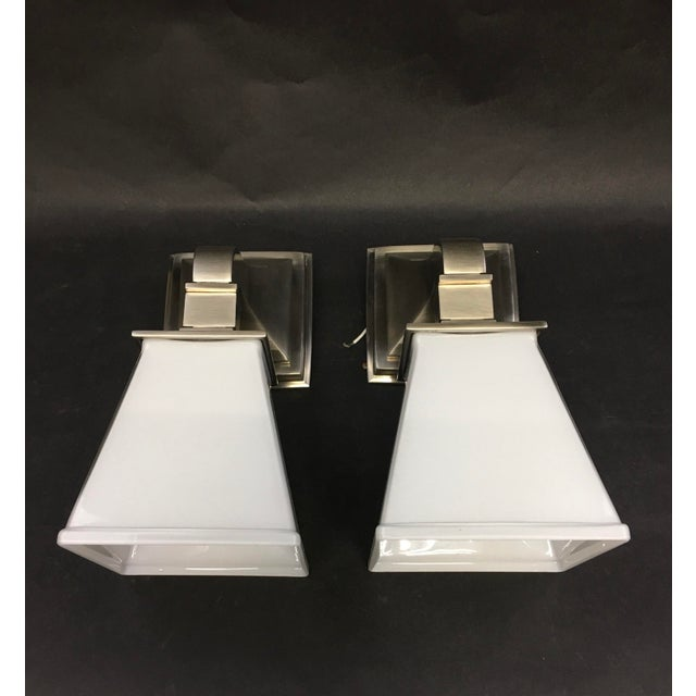 E.F. Chapman Chinoiserie 1 Light 5 Inch Antique Nickel Bath Wall Light by Visual Comfort Chd1515an-Wg. Showroom sample....
