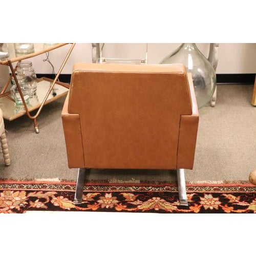 Tan Vintage Mid Century Armchair For Sale - Image 8 of 10