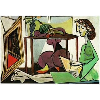 1971 Parisian Interior With a Girl Drawing Photogravure by Picasso For Sale