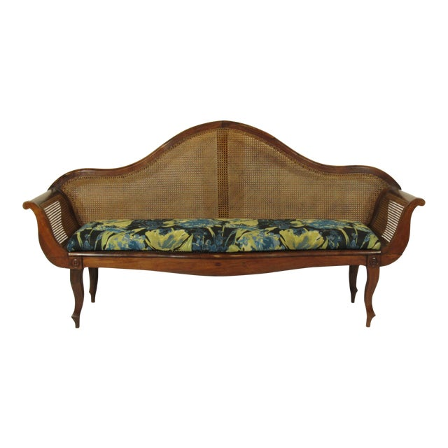 19th C. British Colonial Rosewood Settee For Sale