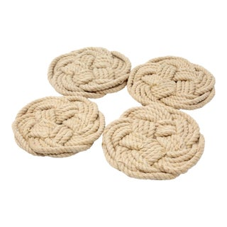 Vintage Knotted Rope Coasters - Set of 4 For Sale
