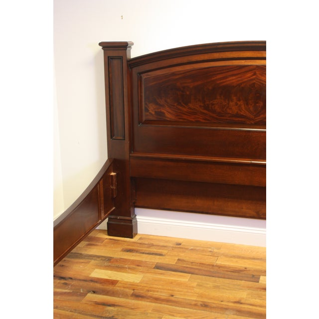 Brown King Bed Frame by M. Craig For Sale - Image 8 of 13