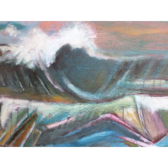Ebb and flow of a majestic ocean. Movement and swells, colors and emotions.