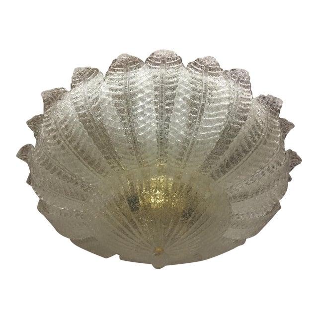 Vintage Murano Glass Flush Mount Chandelier For Sale - Image 10 of 10