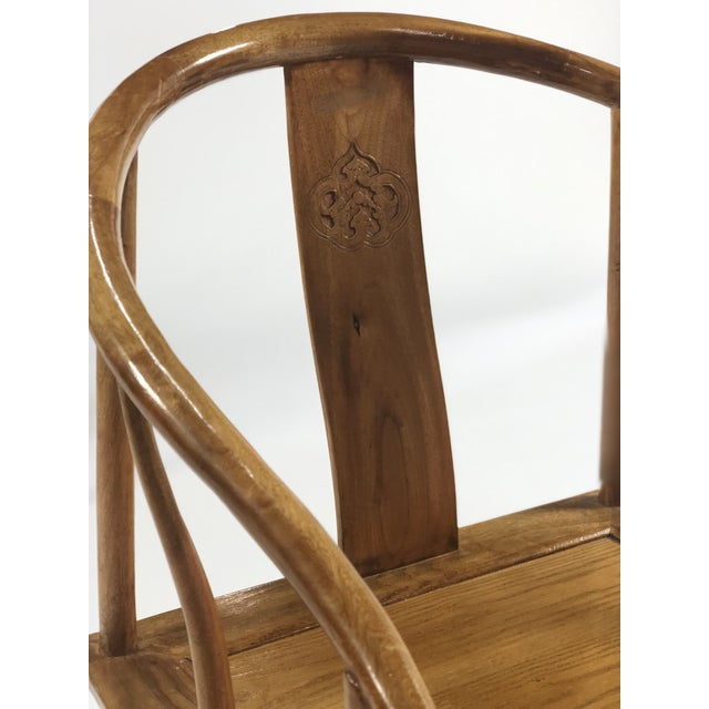 Mid-Century Modern Elm & Mahogany Yoke Back Chairs - a Pair For Sale In San Francisco - Image 6 of 7