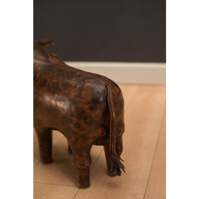 Mid Century Abercrombie and Fitch Leather Bull by Dimitri Omersa For Sale - Image 6 of 10