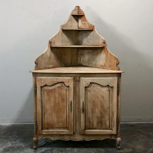 Antique Country French Stripped Corner Cabinet For Sale - Image 13 of 13
