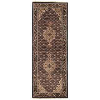 """Traditional Pasargad N Y Fine Tabriz Mahi Design Silk & Wool Rug - 2'6"""" X 6'8"""" For Sale"""