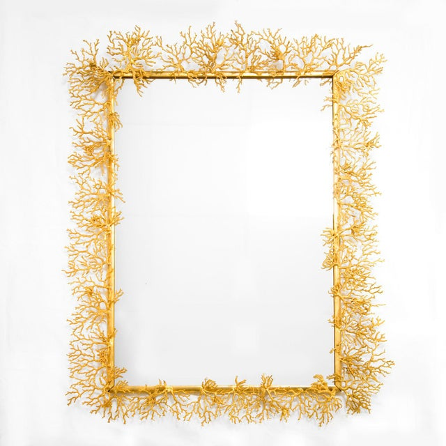 Robert Goossens (1927-2016) Unique mirror made of gilt bronze France, 1972 Signed and dated A certificate of authenticity...