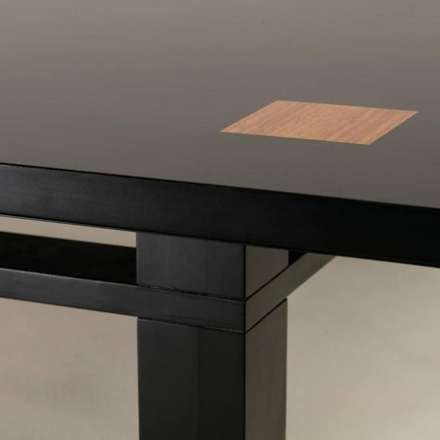 Saporiti Designed Extendable Lacquered Wood Dining Table, 1980s - Image 5 of 6