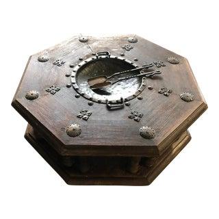 Bohemian Metal Octagonal Coffee Table For Sale