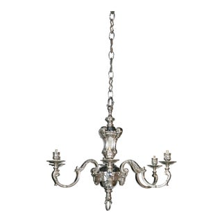 French Silver Plate Chandelier For Sale