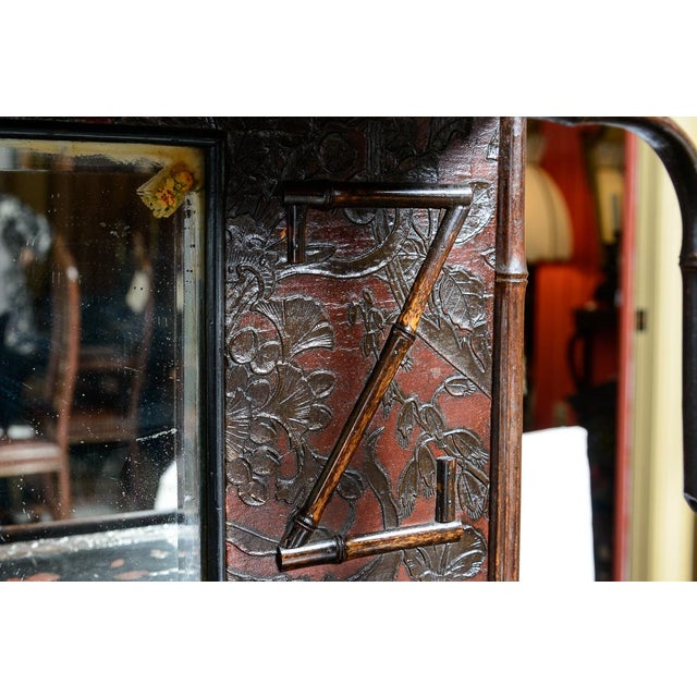 Late 19th Century Antique English Bamboo and Lacquer Cabinet For Sale - Image 5 of 9