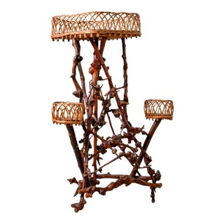 Late 19th Century French Natural Form Twig Plant Stand For Sale