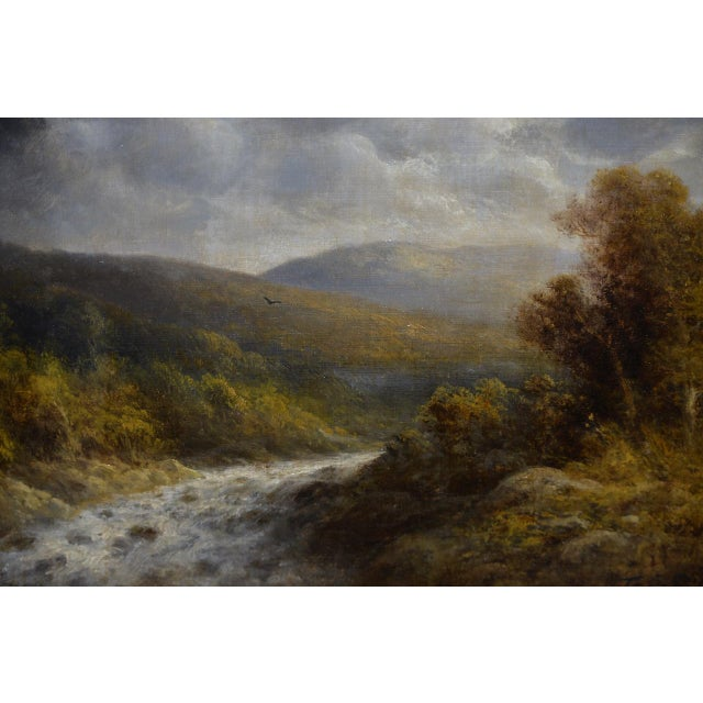 Thomas Griffin (American, 1858-1918) River Landscape Oil on Canvas 19th C. For Sale In San Francisco - Image 6 of 9