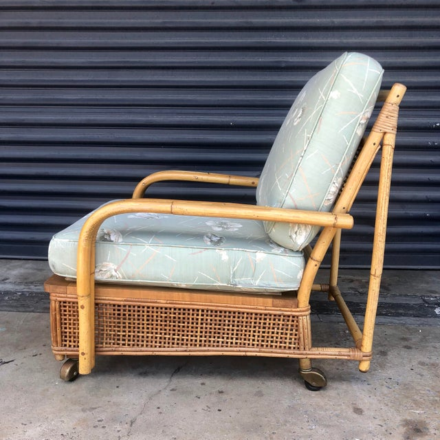 Boho Chic Mid Century Ficks Reed Rattan Lounge Chair For Sale - Image 3 of 12