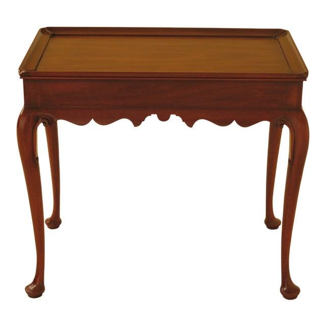 1986 Queen Anne Henkel Harris Mahogany Tea Table For Sale