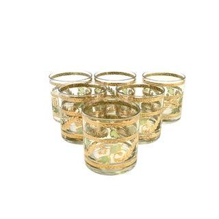 Hollywood Regency Culver Cocktail Glasses - Set of 6 For Sale