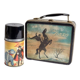Vintage Zorro Lunchbox With Thermos