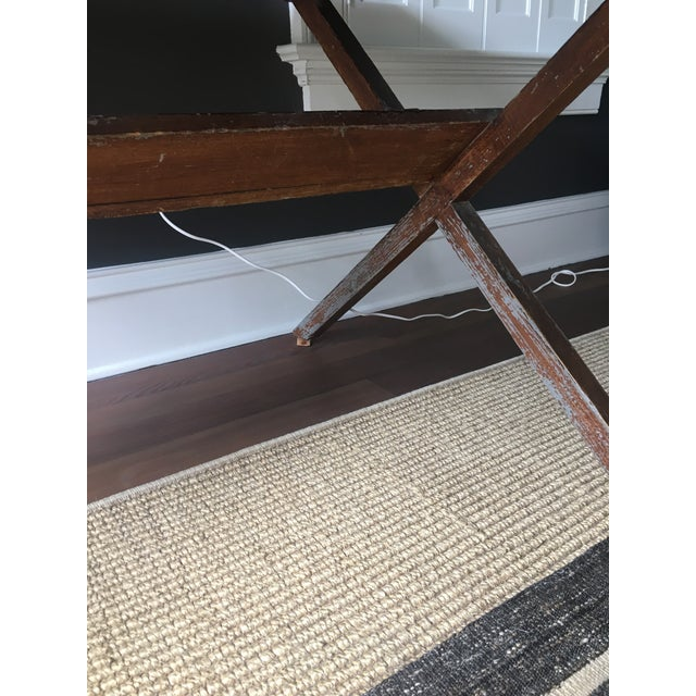Vintage Trestle Table For Sale In Charleston - Image 6 of 11