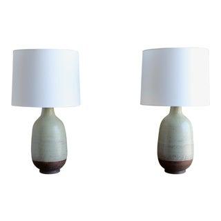 Aldo Londi for Bitossi Ceramic Lamps - a Pair For Sale