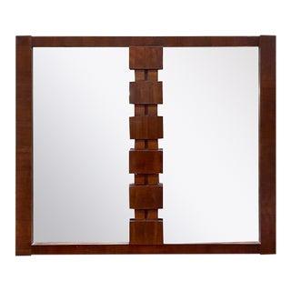 Mid Century Lane Furniture Brutalist Mirror For Sale