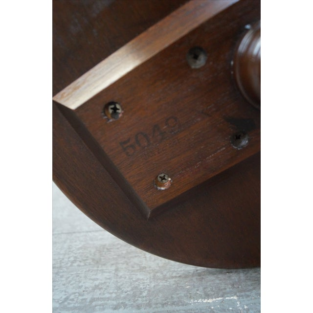 Stickley Queen Anne Solid Mahogany Pedestal Stand - Image 10 of 10