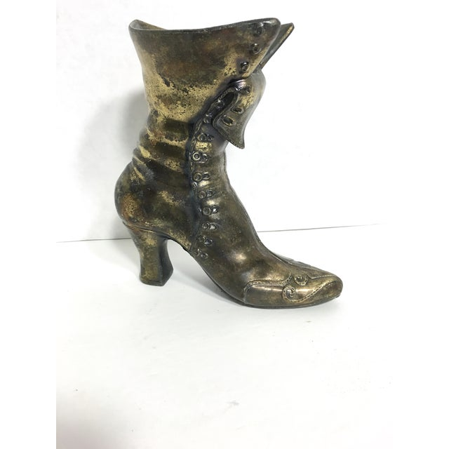 Brass Victorian Boot - Image 3 of 6