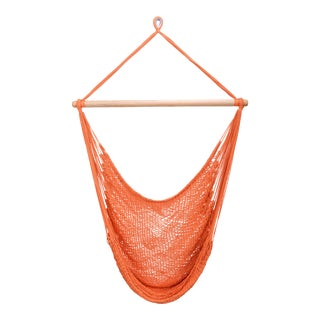 Bright Orange Cotton Hammock Swing For Sale