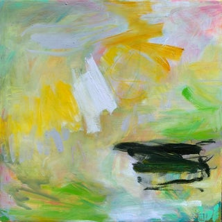 """""""Lifting Fog"""" by Trixie Pitts Abstract Expressionist Oil Painting For Sale"""