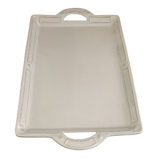 White Berry and Thread Juliska Ceramic Tray For Sale