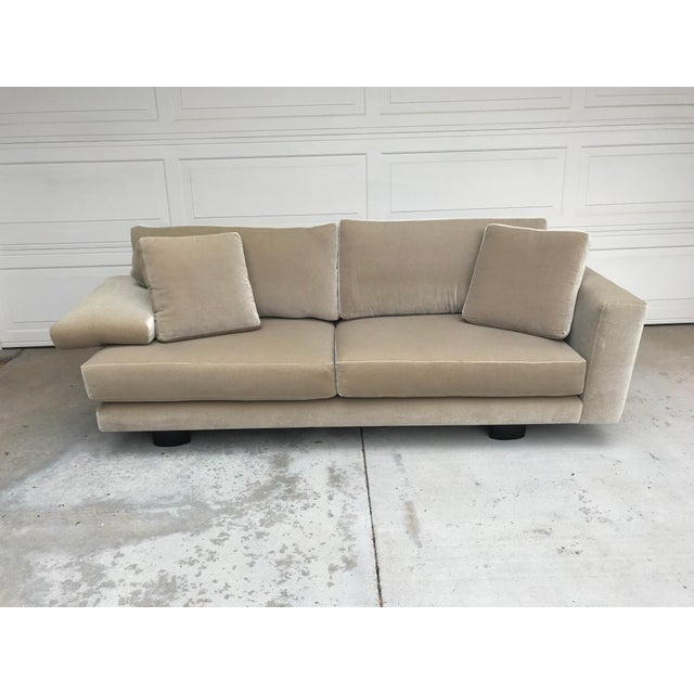 Mauro Lipparini for Saporiti Italia mohair sofa in pristine condition. Italian craftsmanship mixed with luxurious mohair...