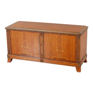 Swedish Art Deco Inlaid Sideboard Cabinet in Rosewood by Eric Chambert, 1920's For Sale