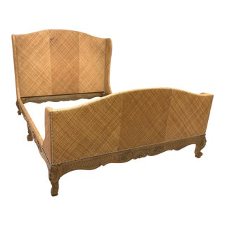 Woven Wicker Queen Size Bed by Ralph Lauren For Sale