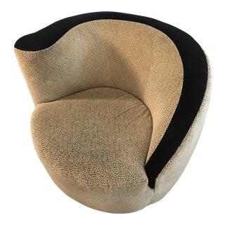 1980s Vintage Lazar Corkscrew Swivel Chair For Sale