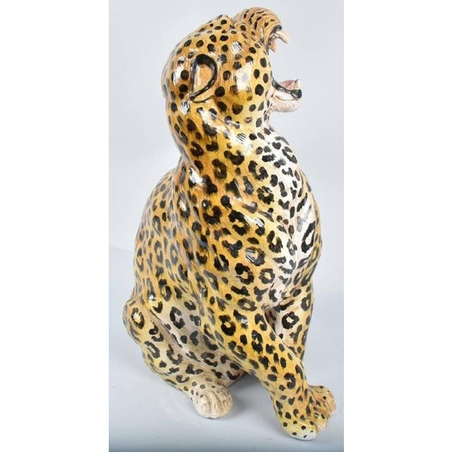 This vintage terracotta leopard statue is beautifully hand-painted with lifelike details. Pay special attention to the...