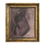 Image of Vintage Modern Abstract Portrait Painting For Sale