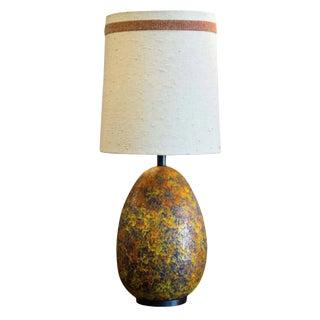 Large Lava Glazed Lamp & Original Shade For Sale