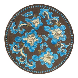 Greek Clay Ceramic Centerpiece Plate For Sale