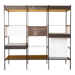 Rosenthal Studio-Line Iron Wood and Glass Room Divider For Sale