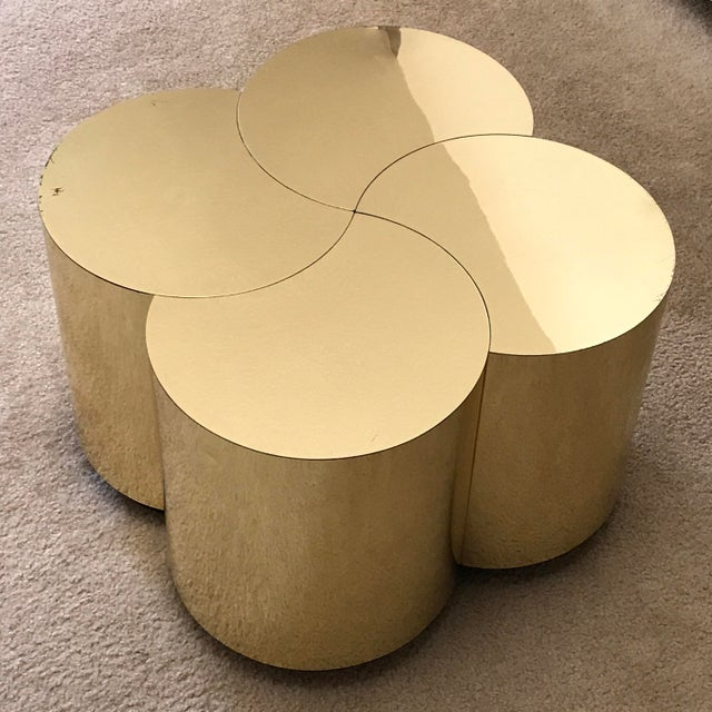 Curtis Jeré Mid-Century Modern Brass Clover Table For Sale - Image 13 of 13