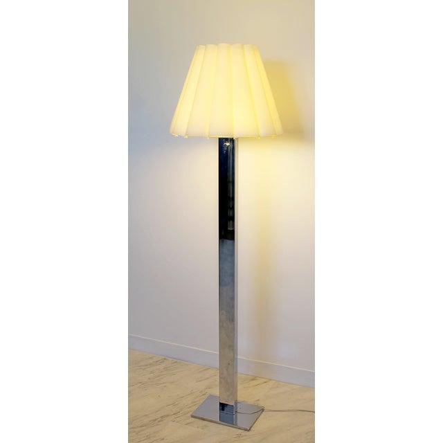 Mid-Century Modern Mid Century Modern Robert Sonneman Polished Chrome Steel Standing Floor Lamp For Sale - Image 3 of 10