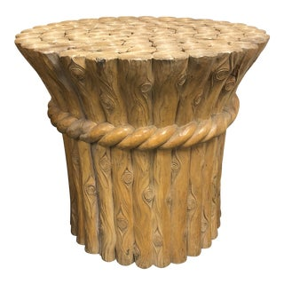 Country Wicker Works Carved Wood Table Branch Base