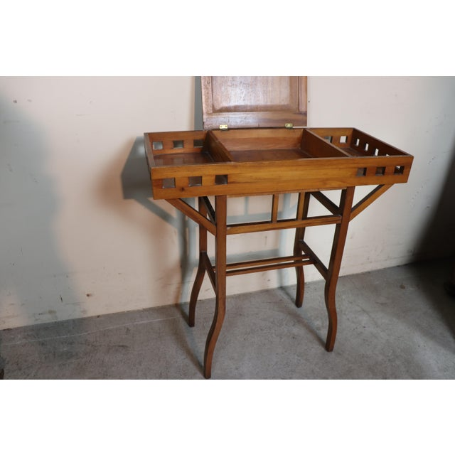 20th Century Italian Art Nouveau Sewing Table or Side Table For Sale - Image 6 of 10