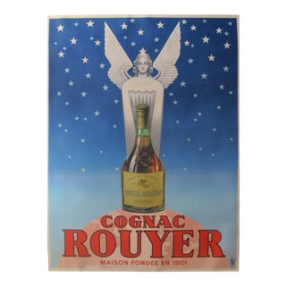 1940s Original Vintage French Alcohol Poster, Cognac Rouyer - Unknown For Sale