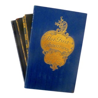 Exquisitely-Decorated Antique Books - Set of 4