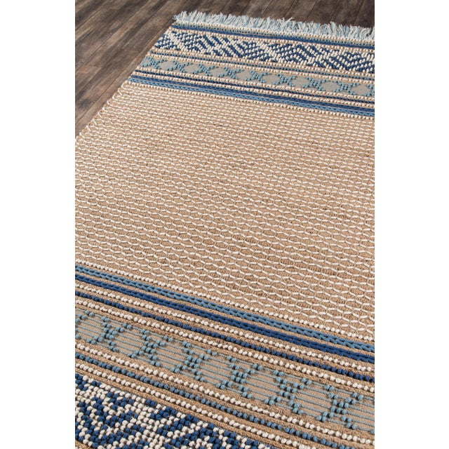 Transitional Esme Blue Hand Woven Area Rug 8' X 10' For Sale - Image 3 of 8